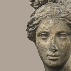Marble head of the goddess Aphrodite