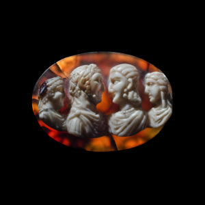 Cameo with four portraits of Philip the Arab and his family: Phoenix Ancient Art
